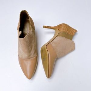 Enzo Angiolini Leather And Suede Booties US8.5